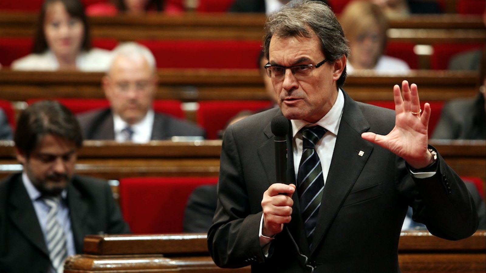 El president de la Generalitat, Artur Mas, en la sessió de control al Parlament / ACN