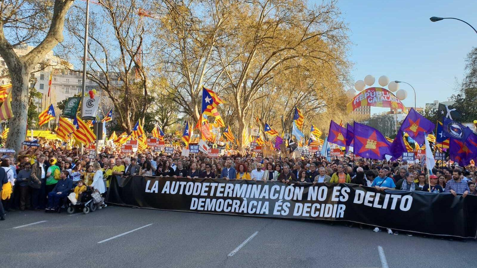 Acte de la manifestació 'l'autodeterminació no és delicte' a Madrid