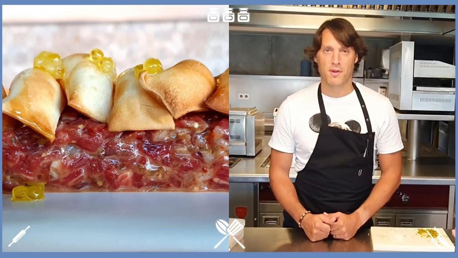 Com fer un steak tartar? La recepta del cuiner Albert Sastregener, del restaurant Bo.tic