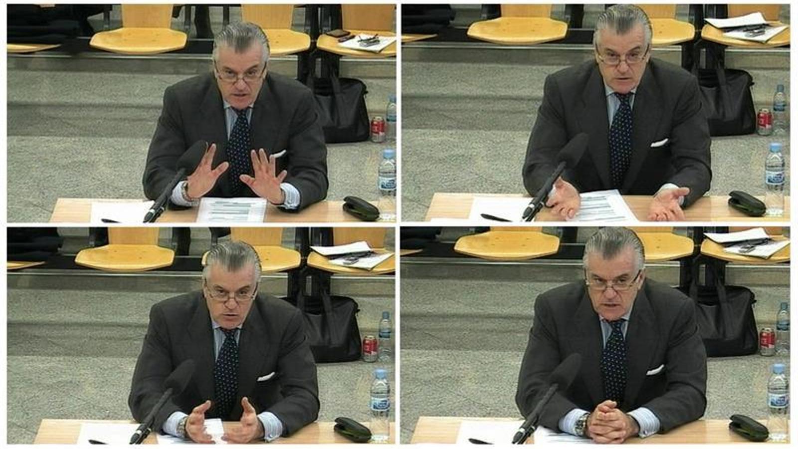Luis Bárcenas durant el segon dia de declaració en el macrojudici a Gürtel. EFE