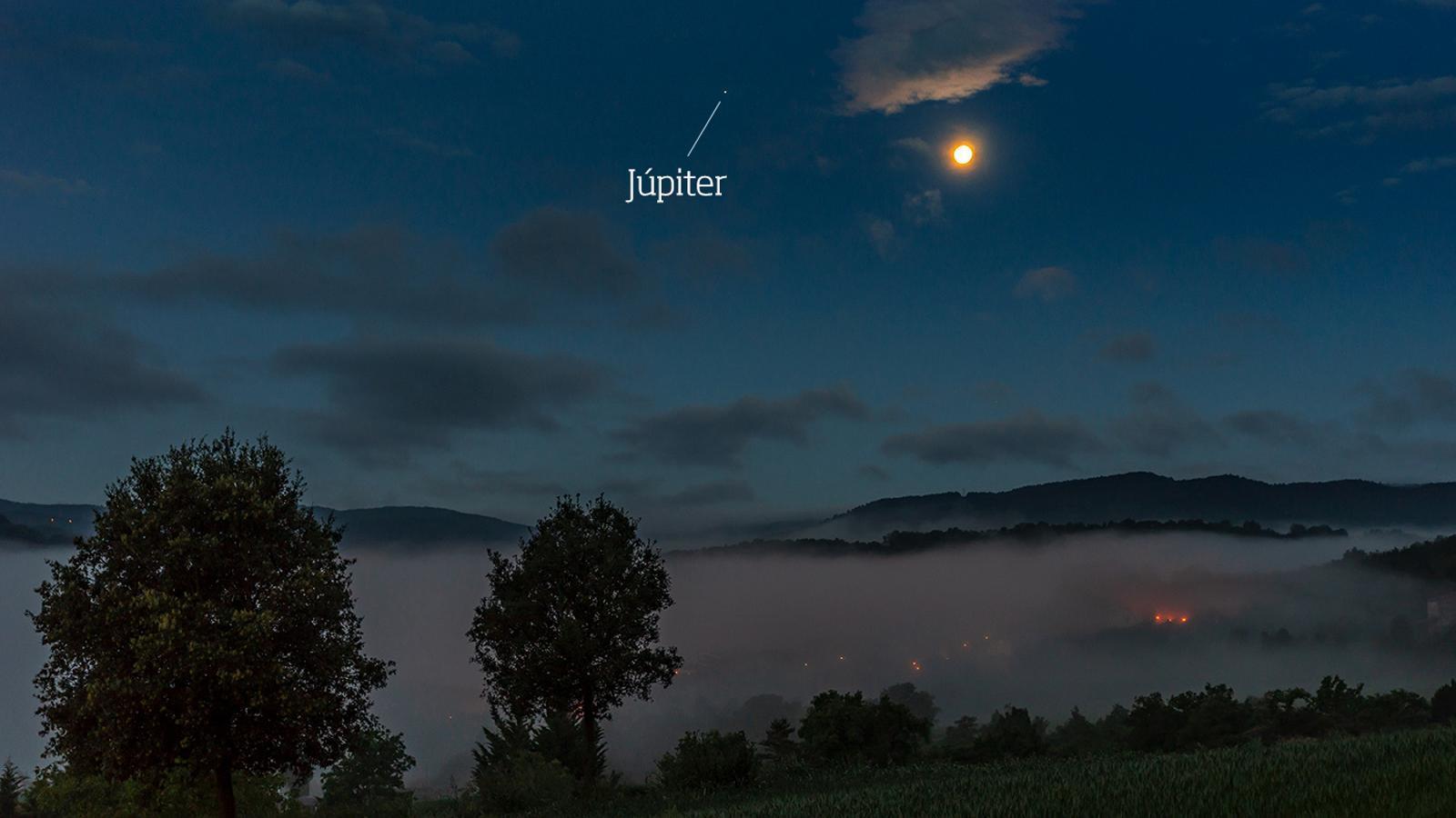 La Lluna i Júpiter, de bracet