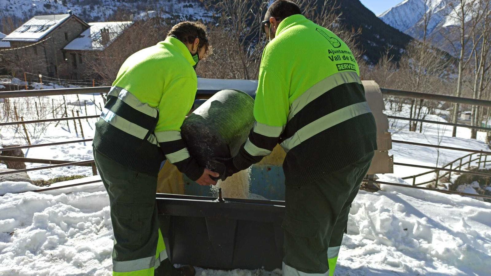 La Vall de Boí millora el sistema d'emmagatzematge de sal. / AJ. VALL DE BOÍ