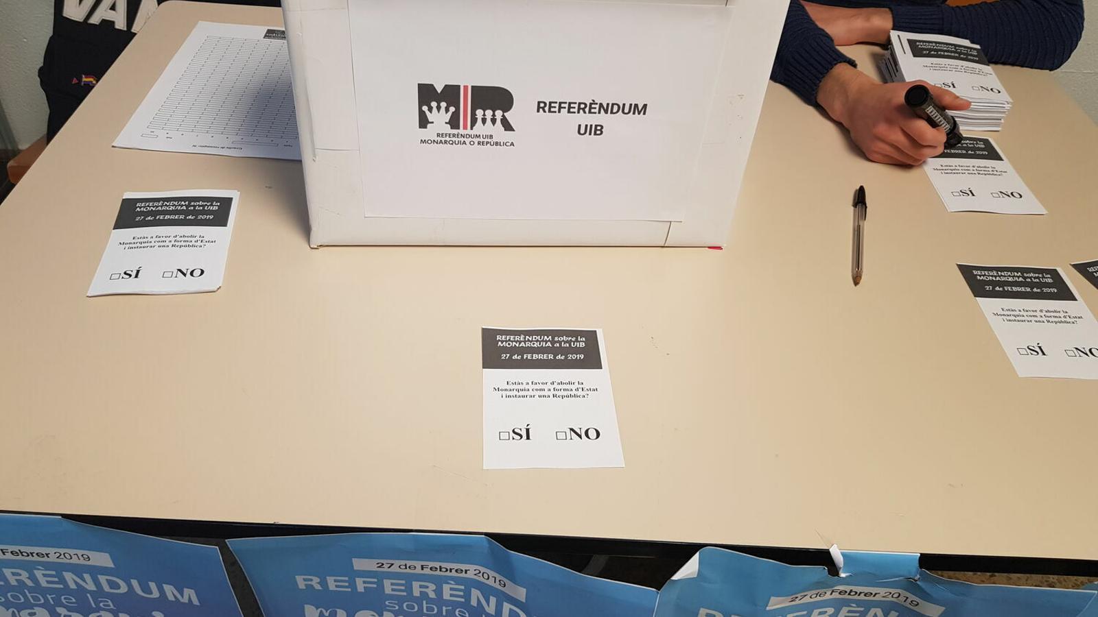 La UIB acollí un referèndum sobre el model d'Estat el passat 27 de febrer.