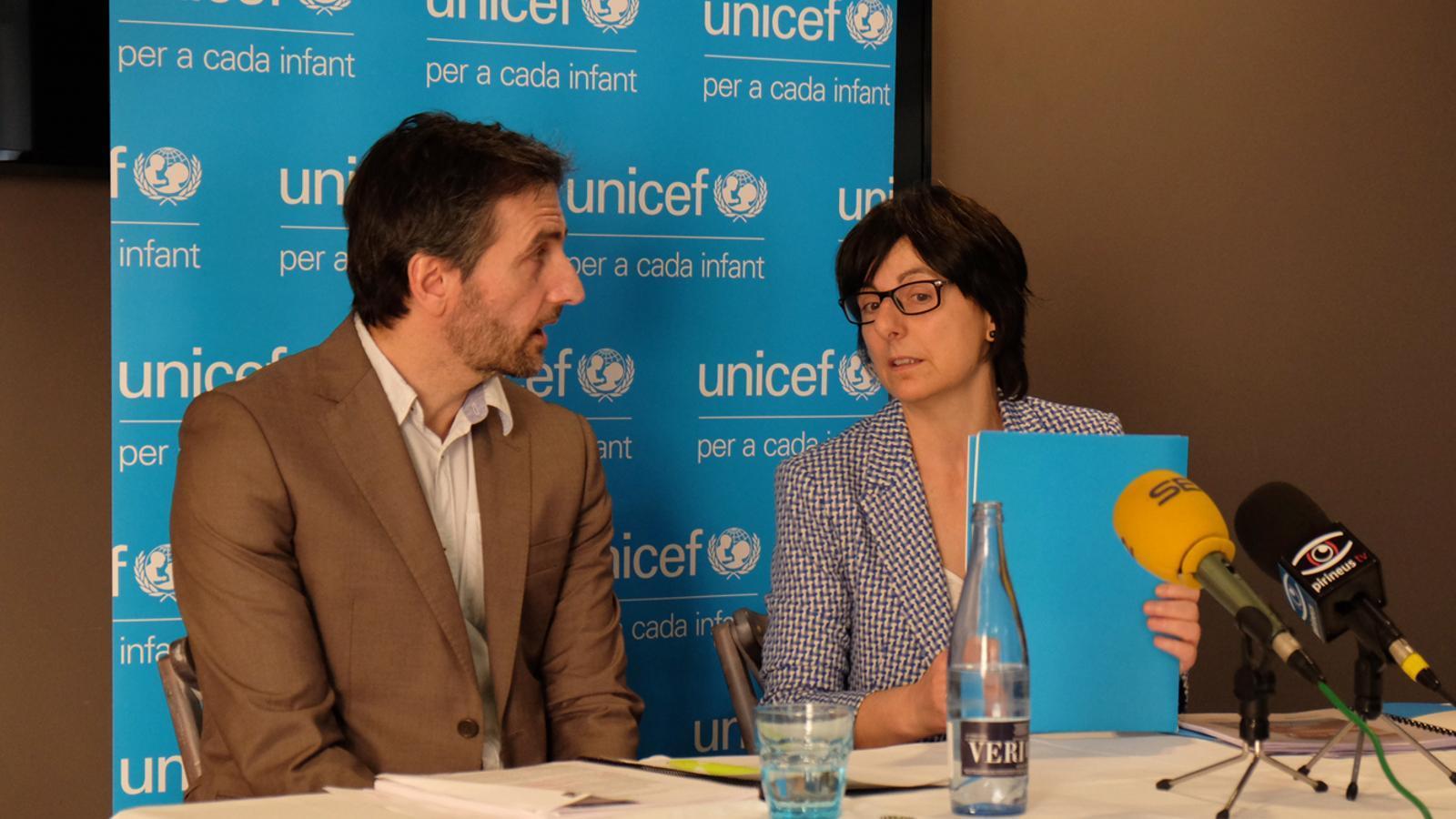 Joan Micó i Marta Alberch en roda de premsa. / M. T. (ANA)