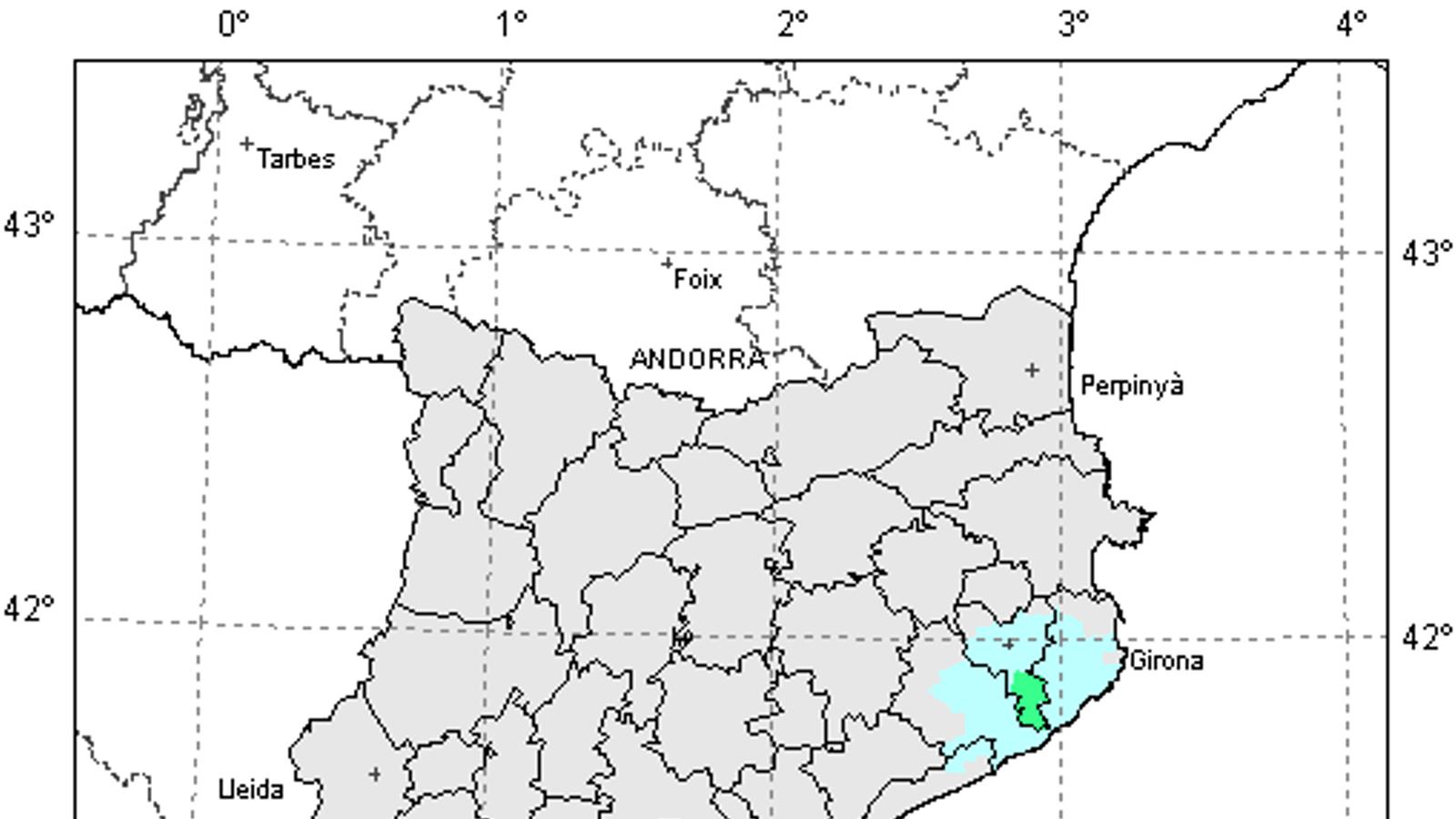 Un petit terratrèmol s'ha deixat sentir en punts de les comarques de Girona