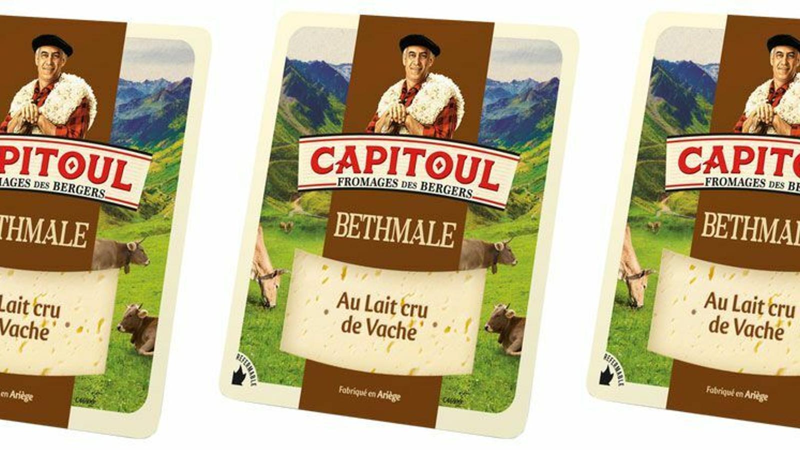 Formatges de llet crua Bethmale de la marca Capitoul.