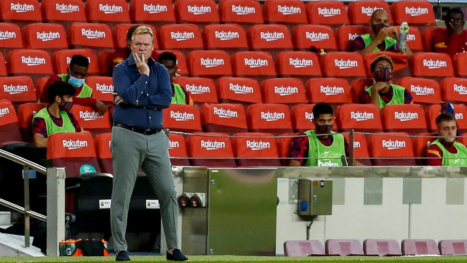 Koeman en el partit del Gamper al Camp Nou