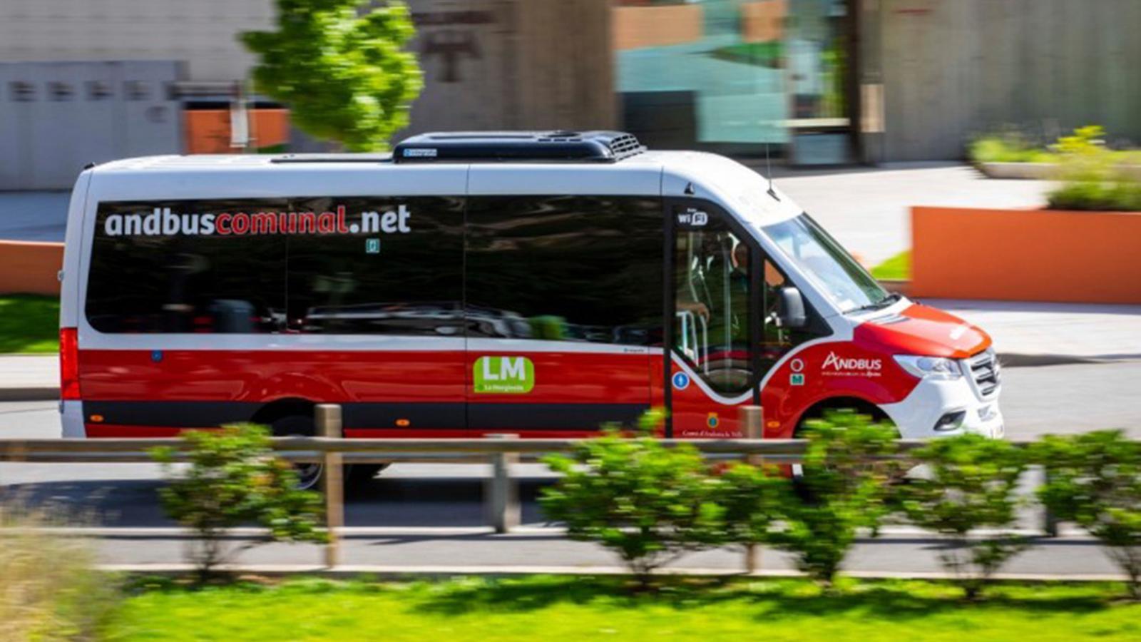 Un bus comunal. / COMÚ D'ANDORRA LA VELLA