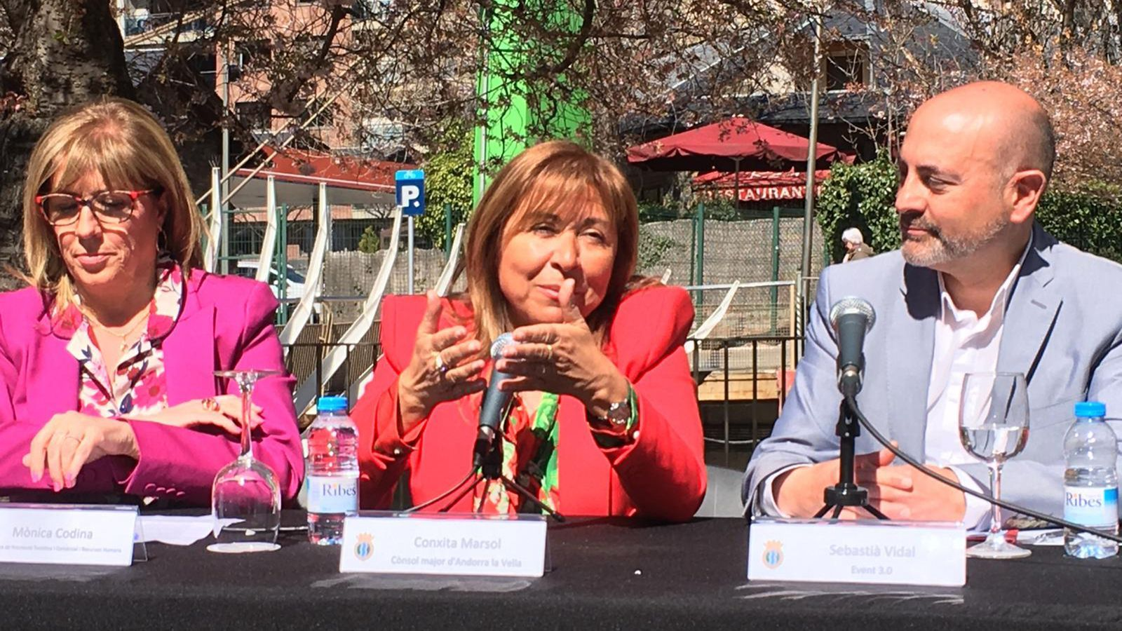 Marsol presenta la Festa de la primavera al Parc Central d'Andorra la Vella. / M. R. F.