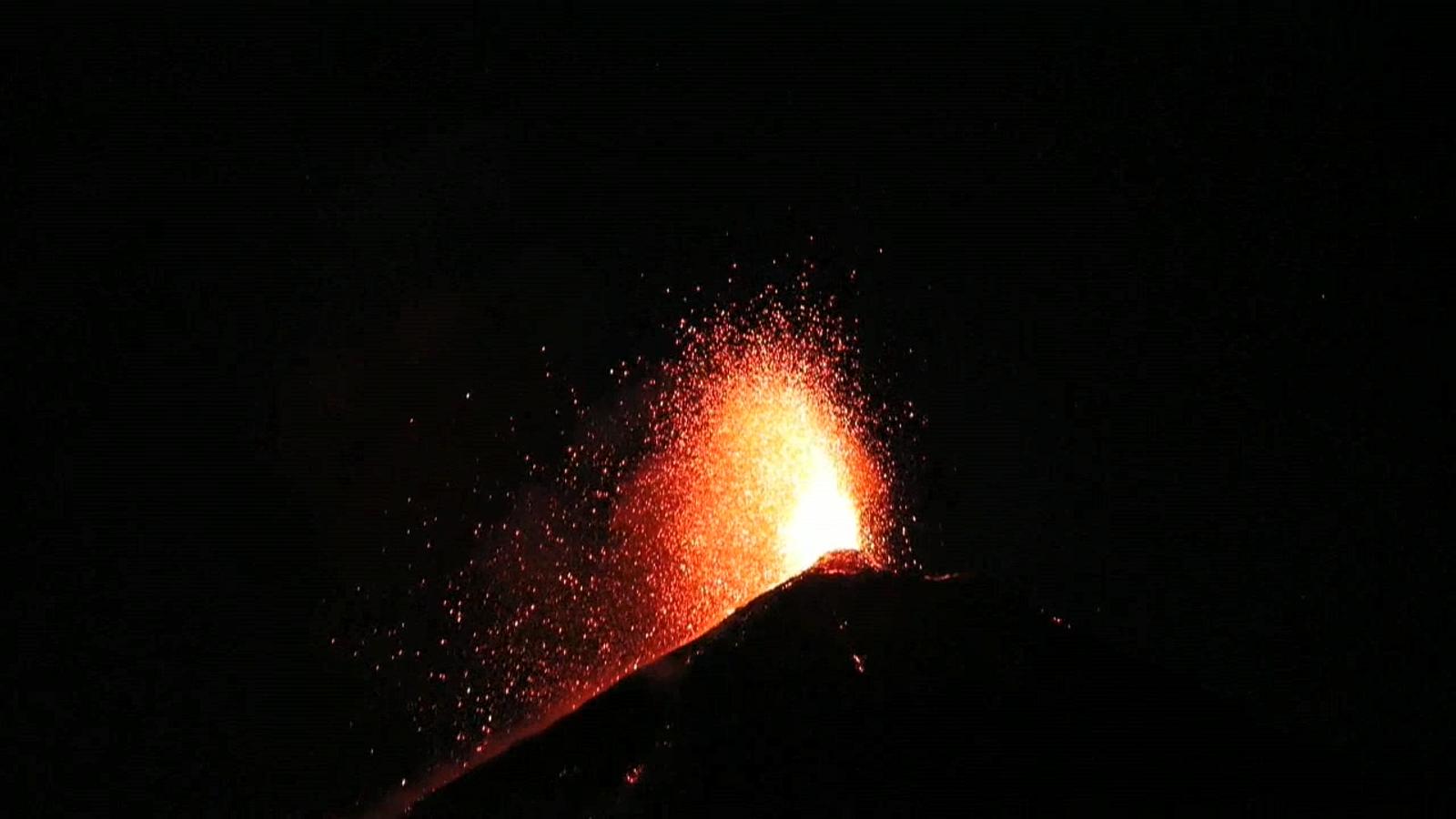 Erupció del volcà el Fuego de Guatemala.