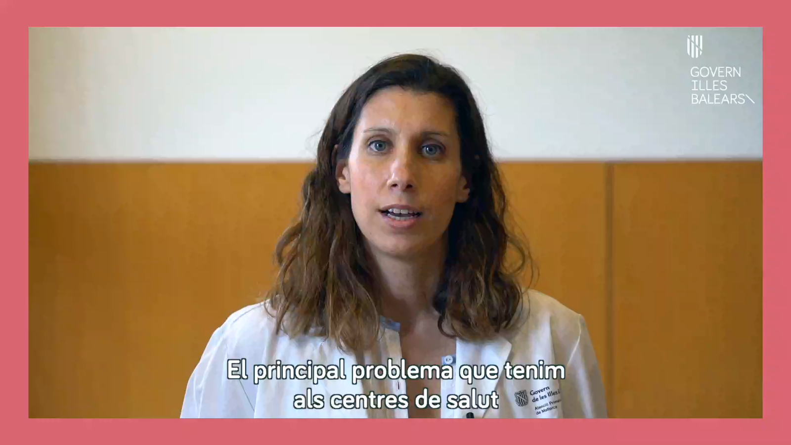 Vídeo del Govern on indica a la població que ha de demanar cita abans d'anar al centre de salut