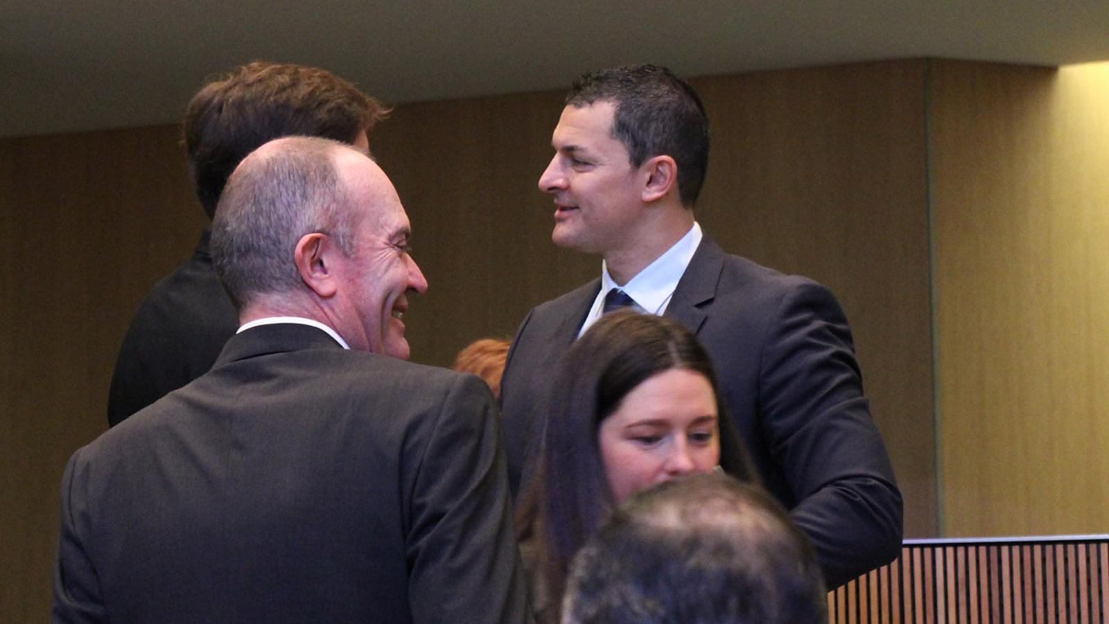 Gallardo durant la segona jornada de la sessió d'investidura / ANA-M. F.