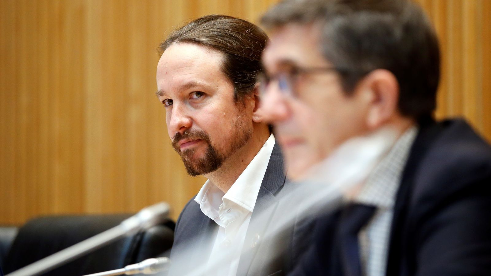 El vicepresident del govern espanyol, Pablo Iglesias, durant la compareixença a la comissió per a la Reconstrucció Social i Econòmica del Congrés.