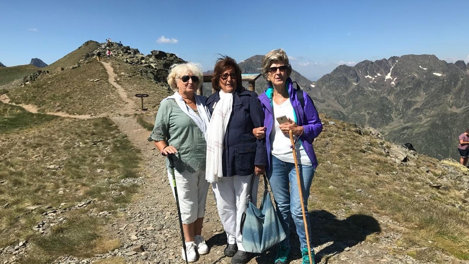 La gent gran de la parròquia, durant l'excurssió a Creussans./ Comú d'Ordino