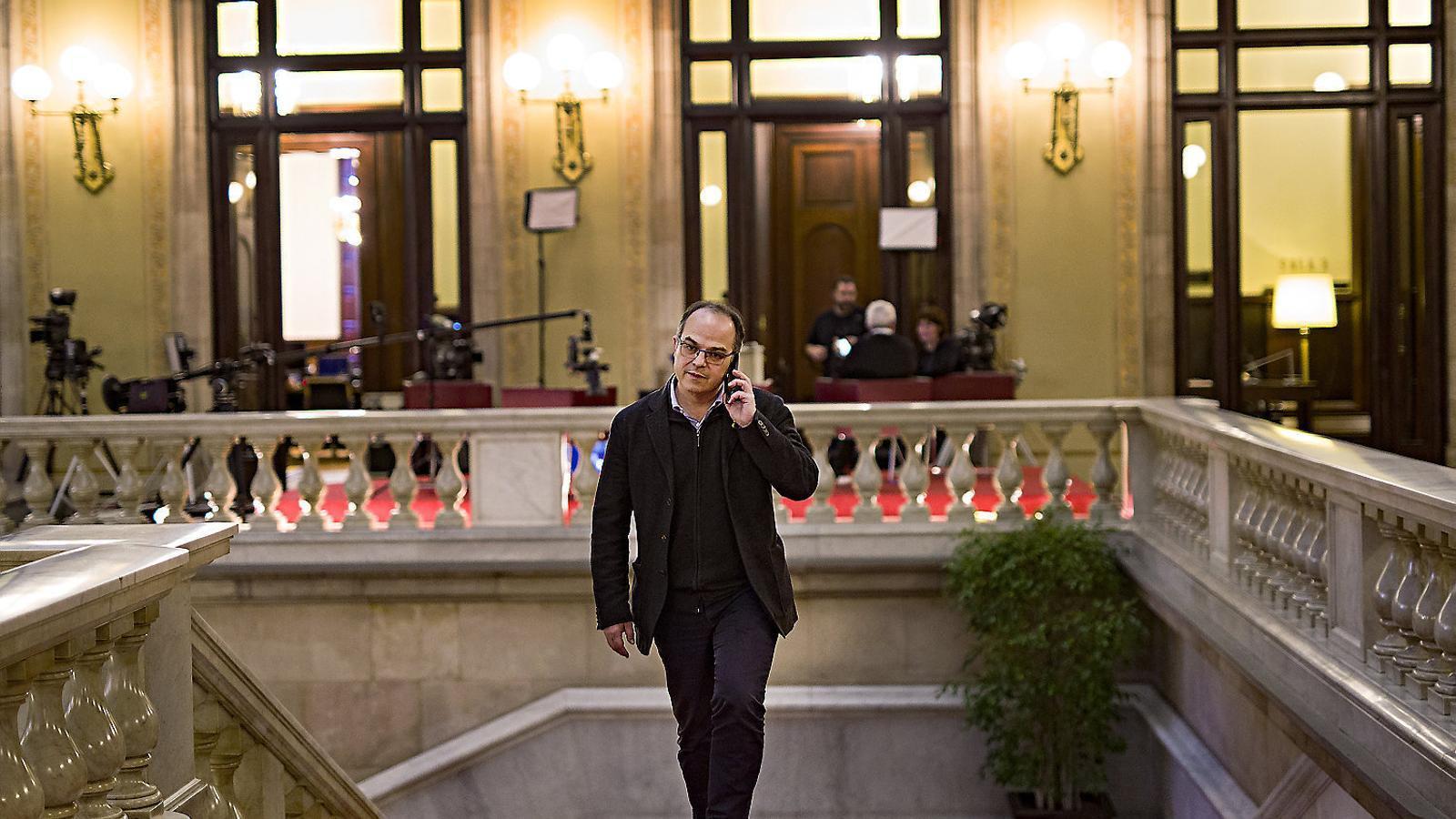 El número 3 de JxCat, Jordi Turull, en una imatge d'arxiu al Palau del Parlament.