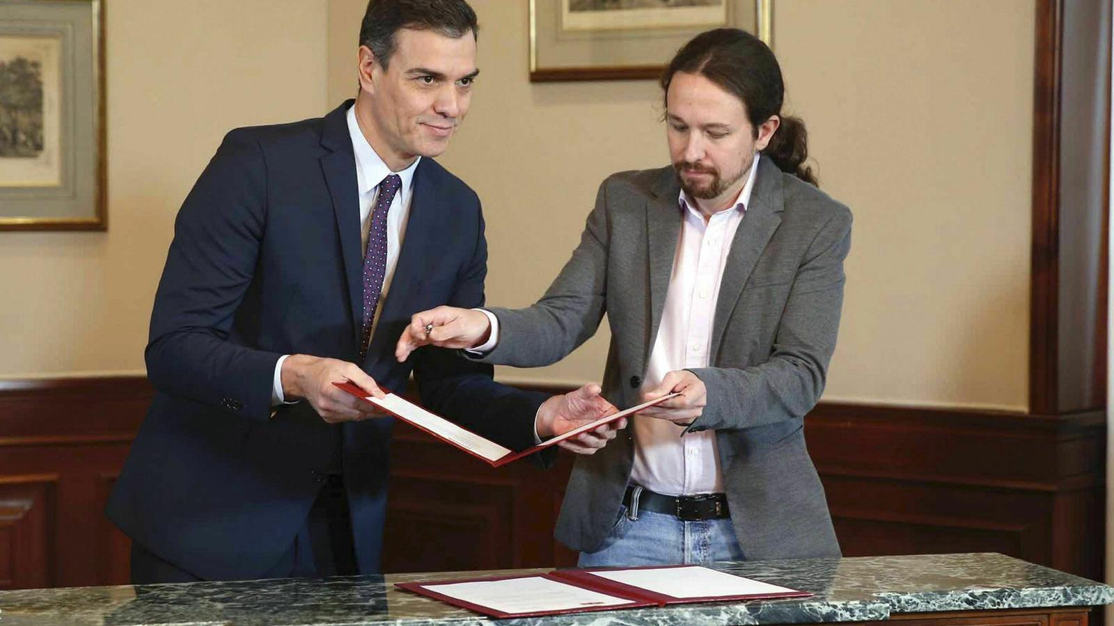 Pedro Sánchez diu que no podria dormir per les nits en un govern de coalició amb Unides Podem