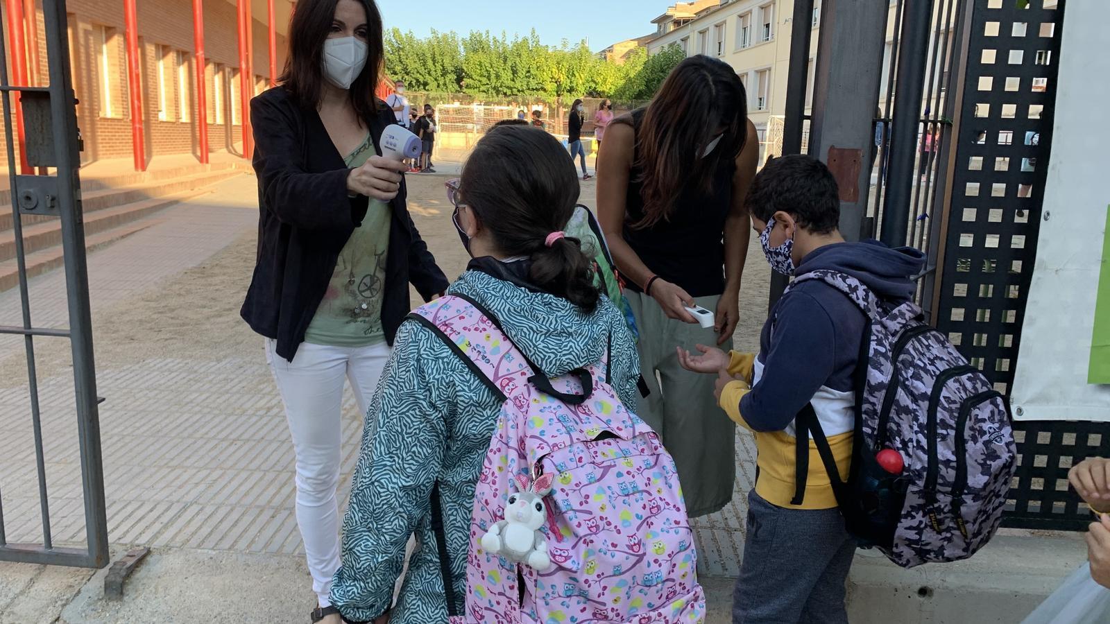 Primer dia d'escola a Tremp. / G.L.T.