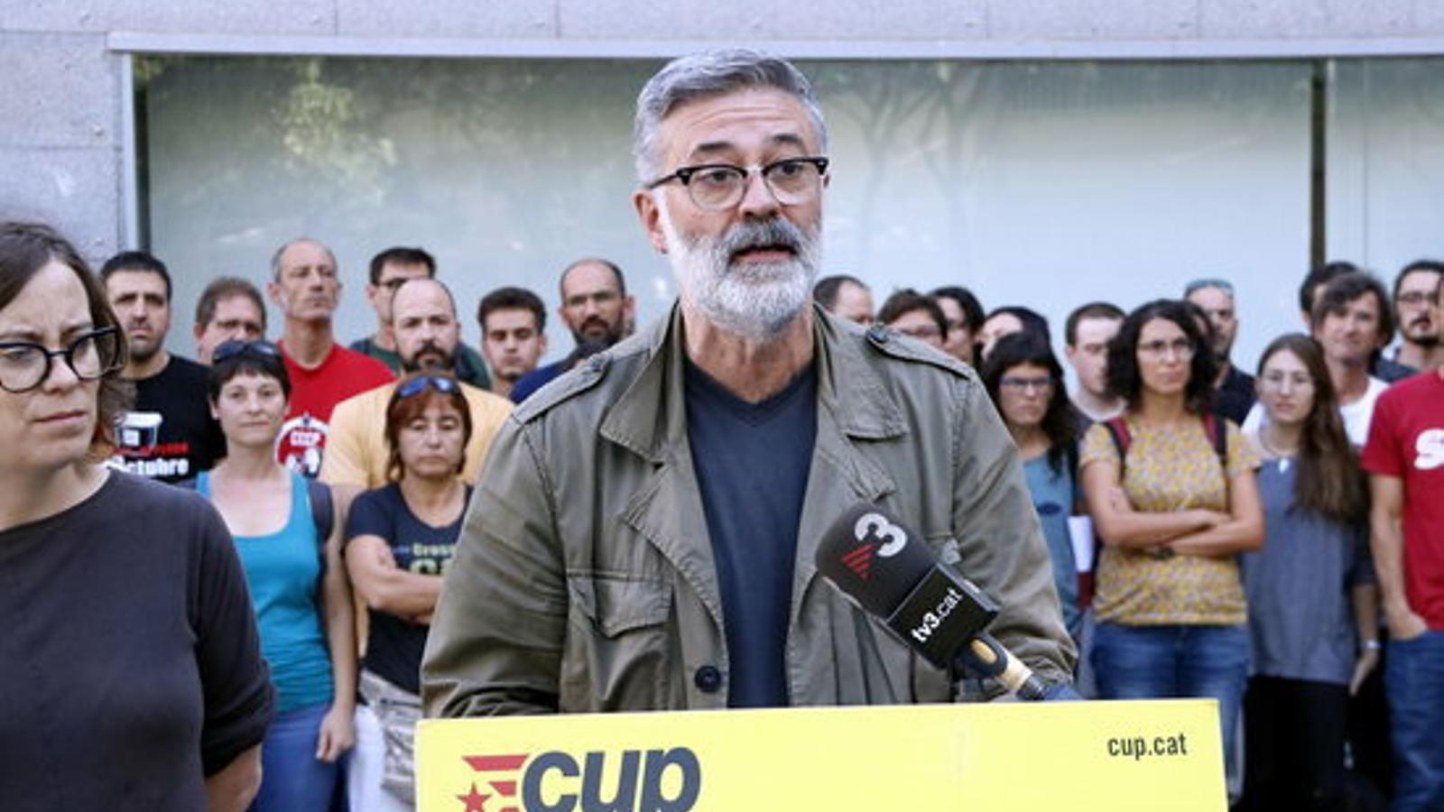 La CUP proposa reunir aquest dilluns una taula amb tots els càrrecs electes a favor del dret a l'autodeterminació