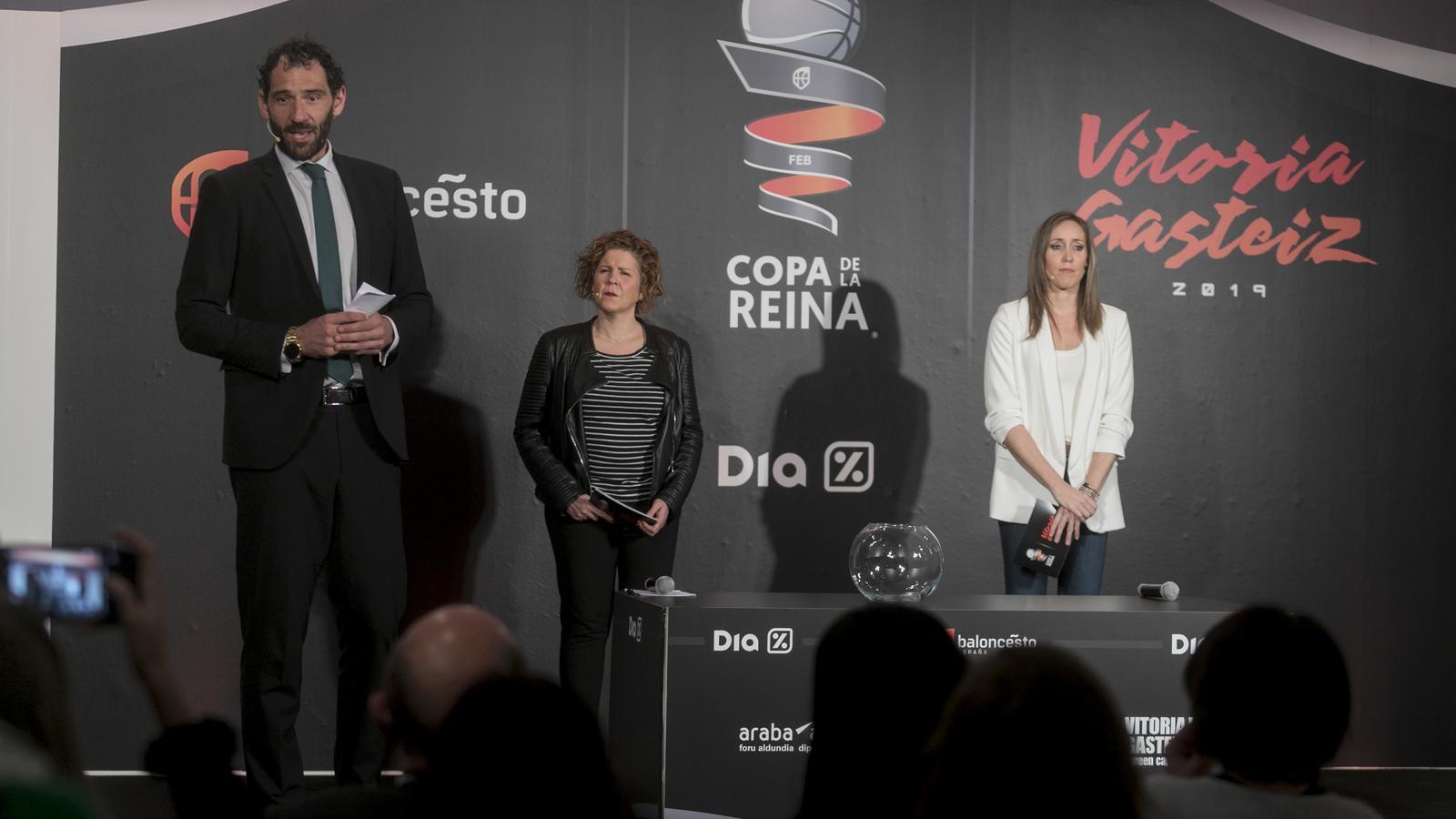 Jorge Garbajosa, Olga Jiménez i Marta Fernández