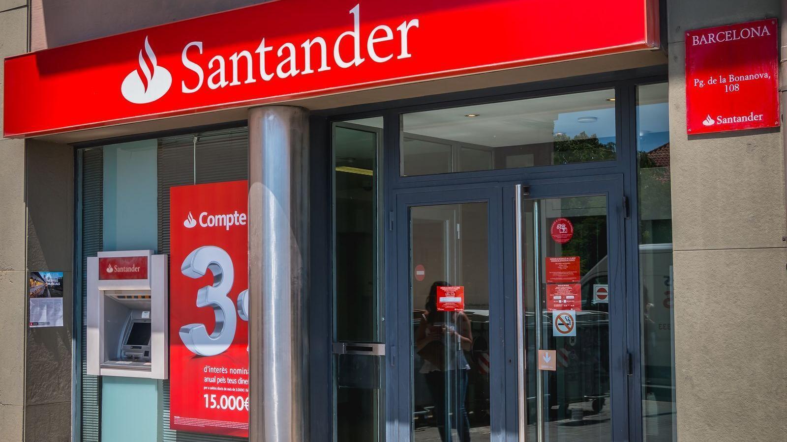 Una sucursal del Banco Santander. / BANCO SANTANDER