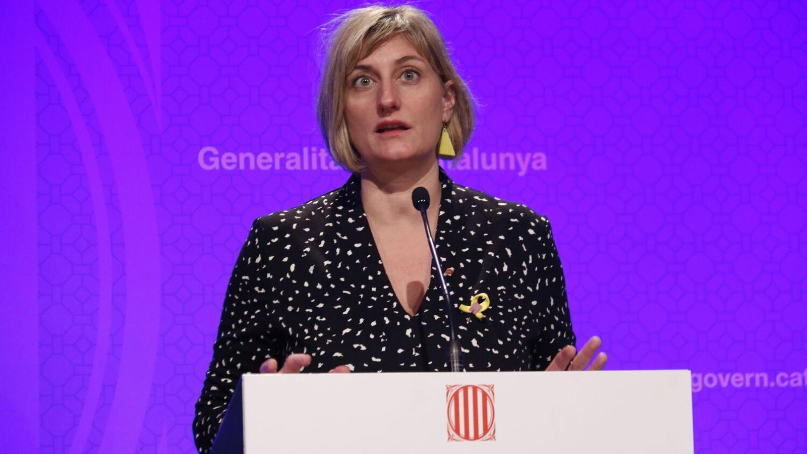 La consellera de Salut, Alba Vergés, durant una roda de premsa.