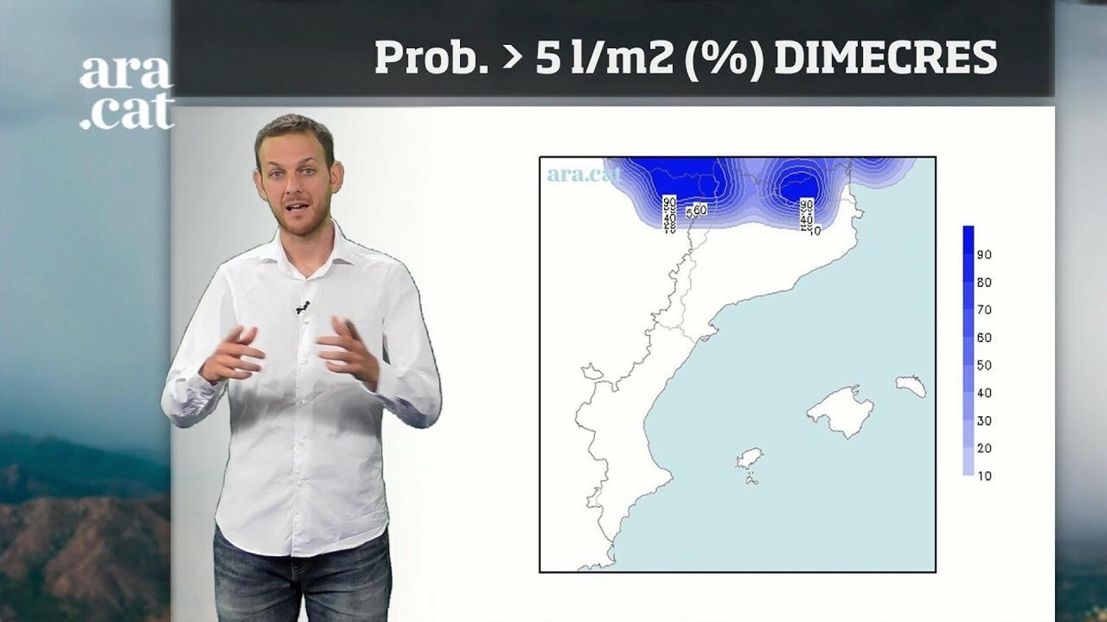 La méteo en 1 minut: Un petit canvi de temps portarà nous xàfecs al nord del territori
