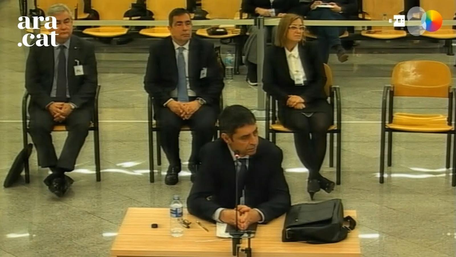 """Trapero: """"Vaig dir que els màxims representants del cos havien d'assumir les detencions dels consellers"""""""
