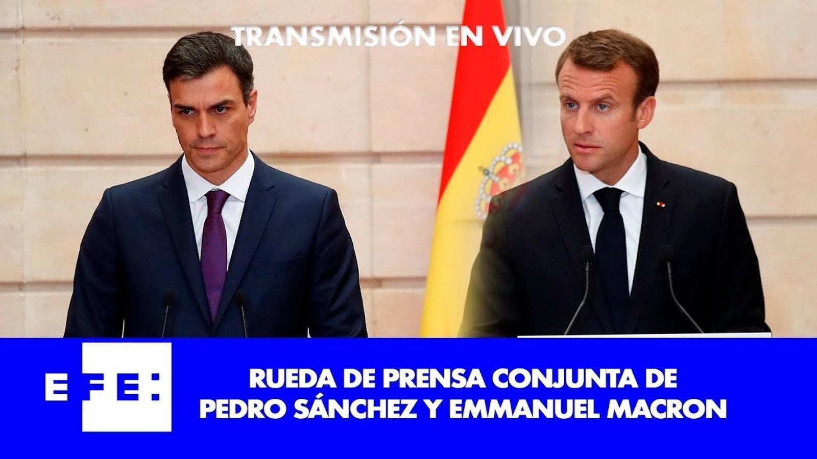 Directe: Roda de premsa de Sánchez amb Macron a la Moncloa