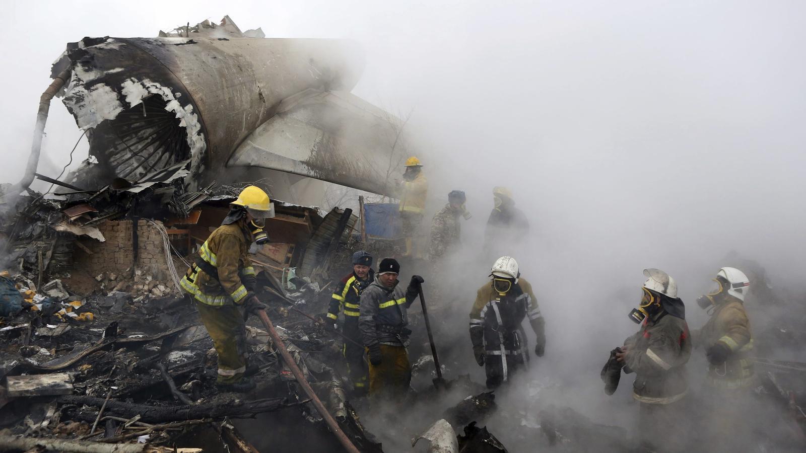Almenys 37 morts en l'accident d'un avió de càrrega turc al Kirguizistan.