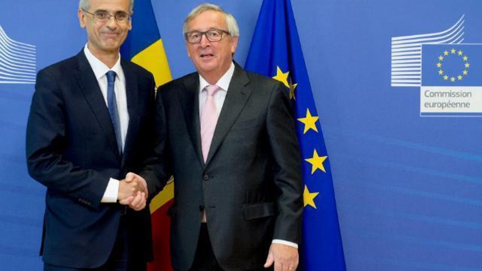 Toni Martí i Jean-Claude Junker, a Brussel·les. / SFG