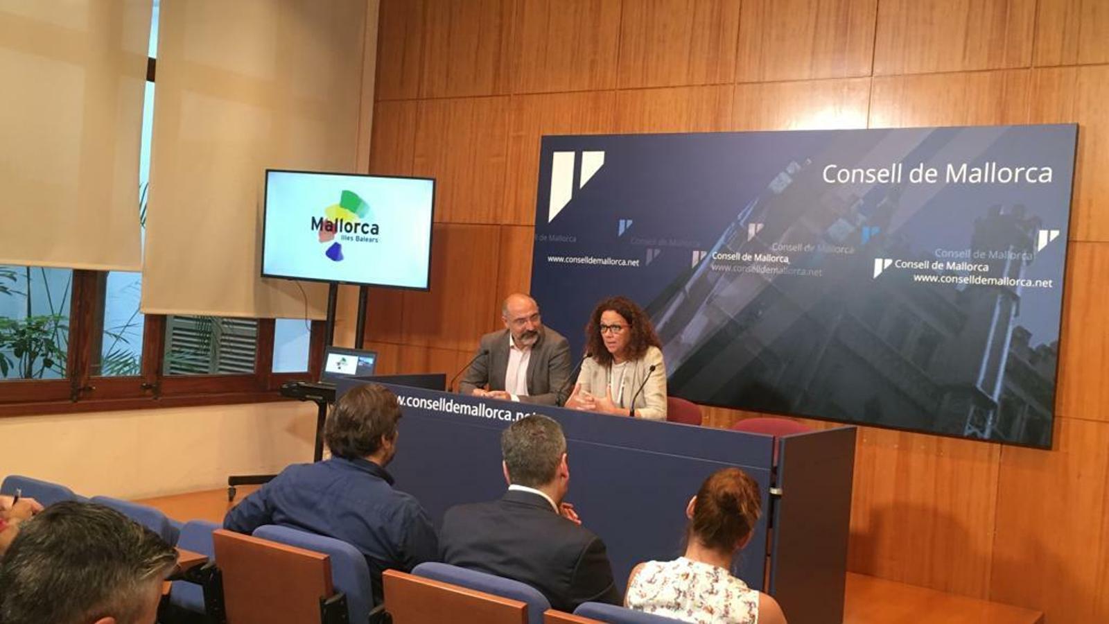 La presidenta del Consell de Mallorca, Catalina Cladera, durant la presentació