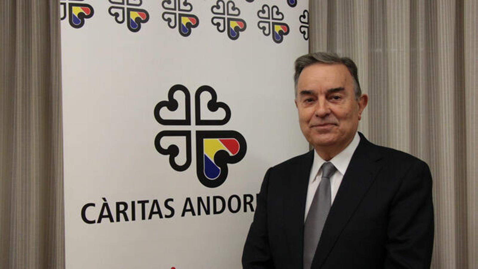 El president de Càritas, Amadeu Rocamora. / M.F. (ANA)