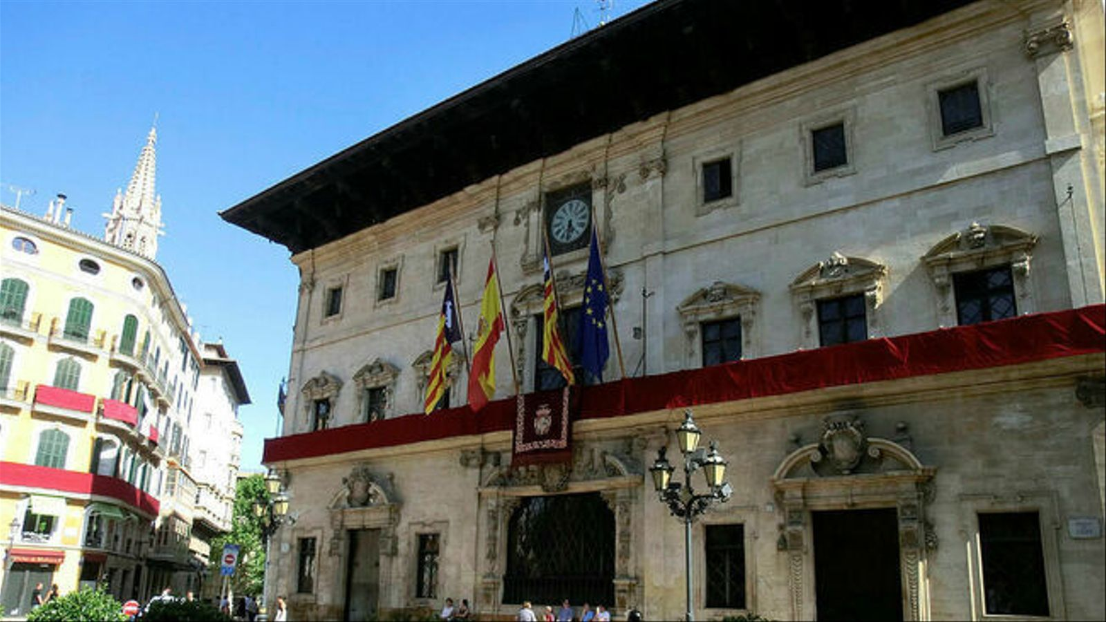 Façana de l'Ajuntament de Palma