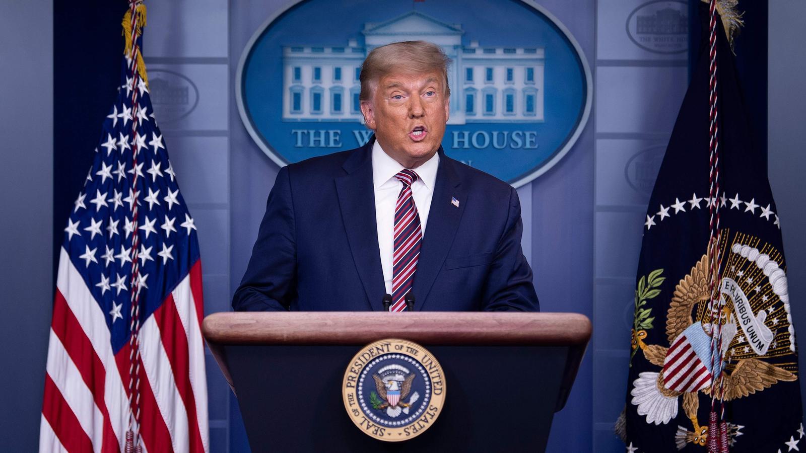 Tres grandes cadenas de los EE.UU. interrumpen el discurso de Trump por falsedades