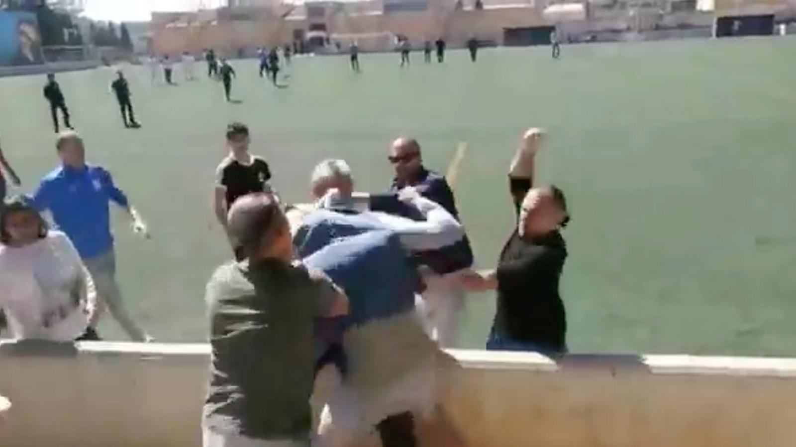 Batalla campal a un partit de futbol infantil a Alaró