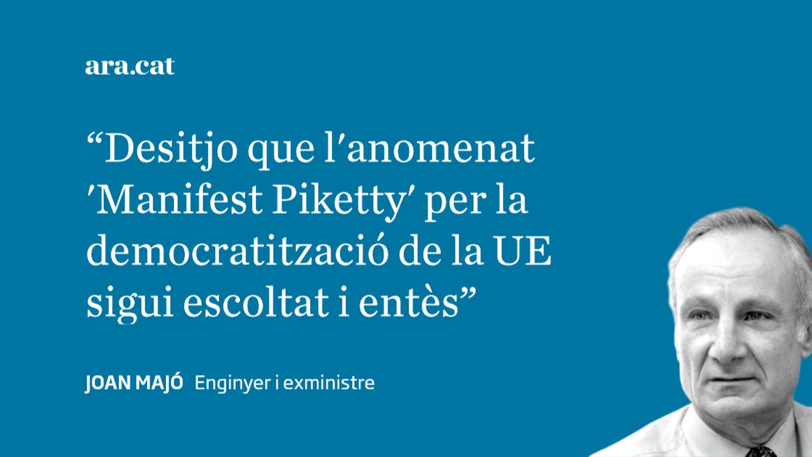El 'Manifest Piketty' per Europa