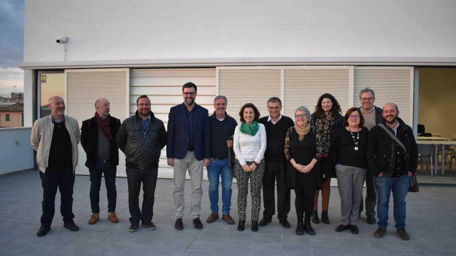 Associació de veïnats de Son Ferriol, representats de l'ajuntament de Palma i de la conselleria de Serveis Socials