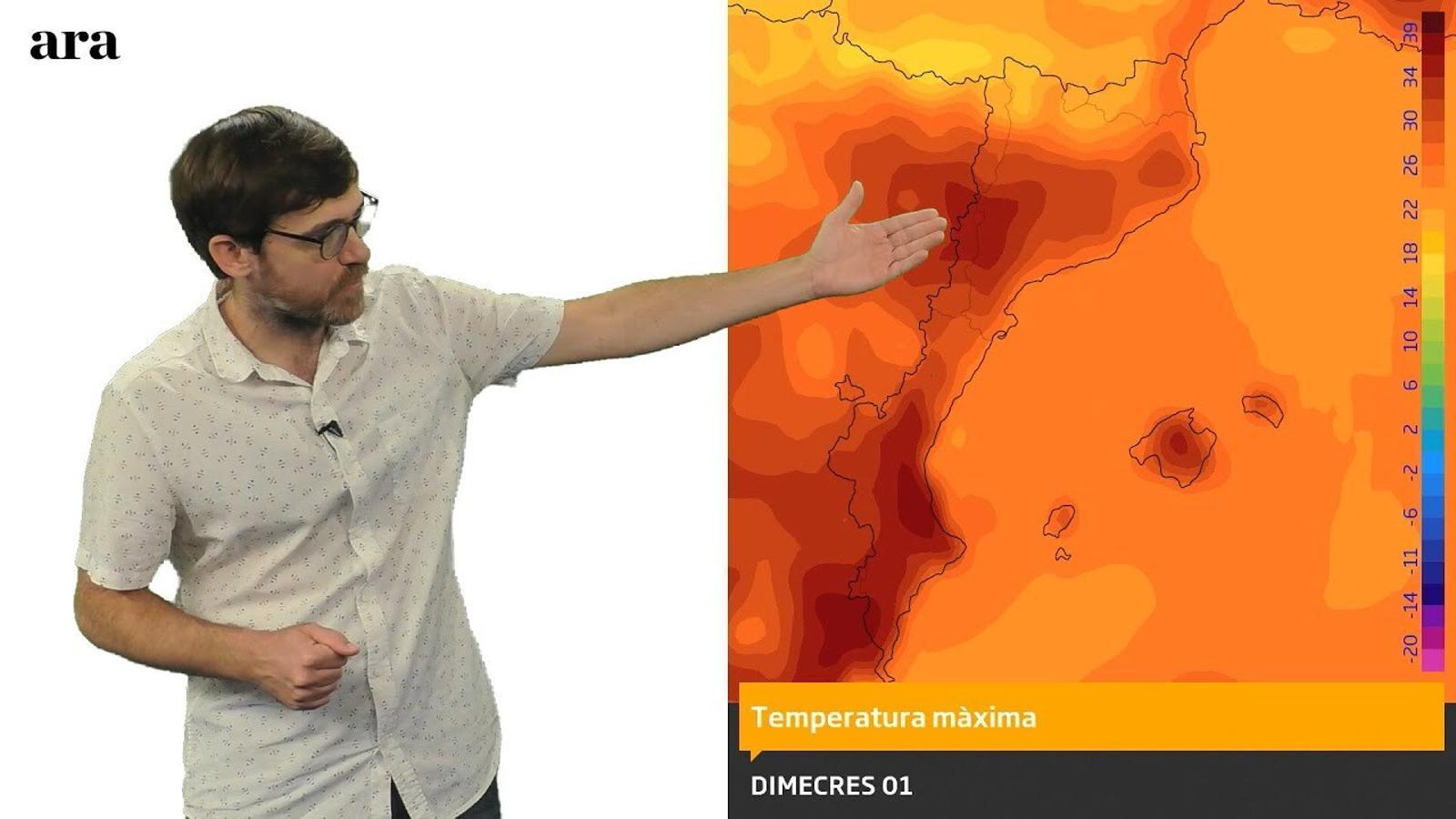La méteo: setmana amb un pic de calor i també algunes tempestes