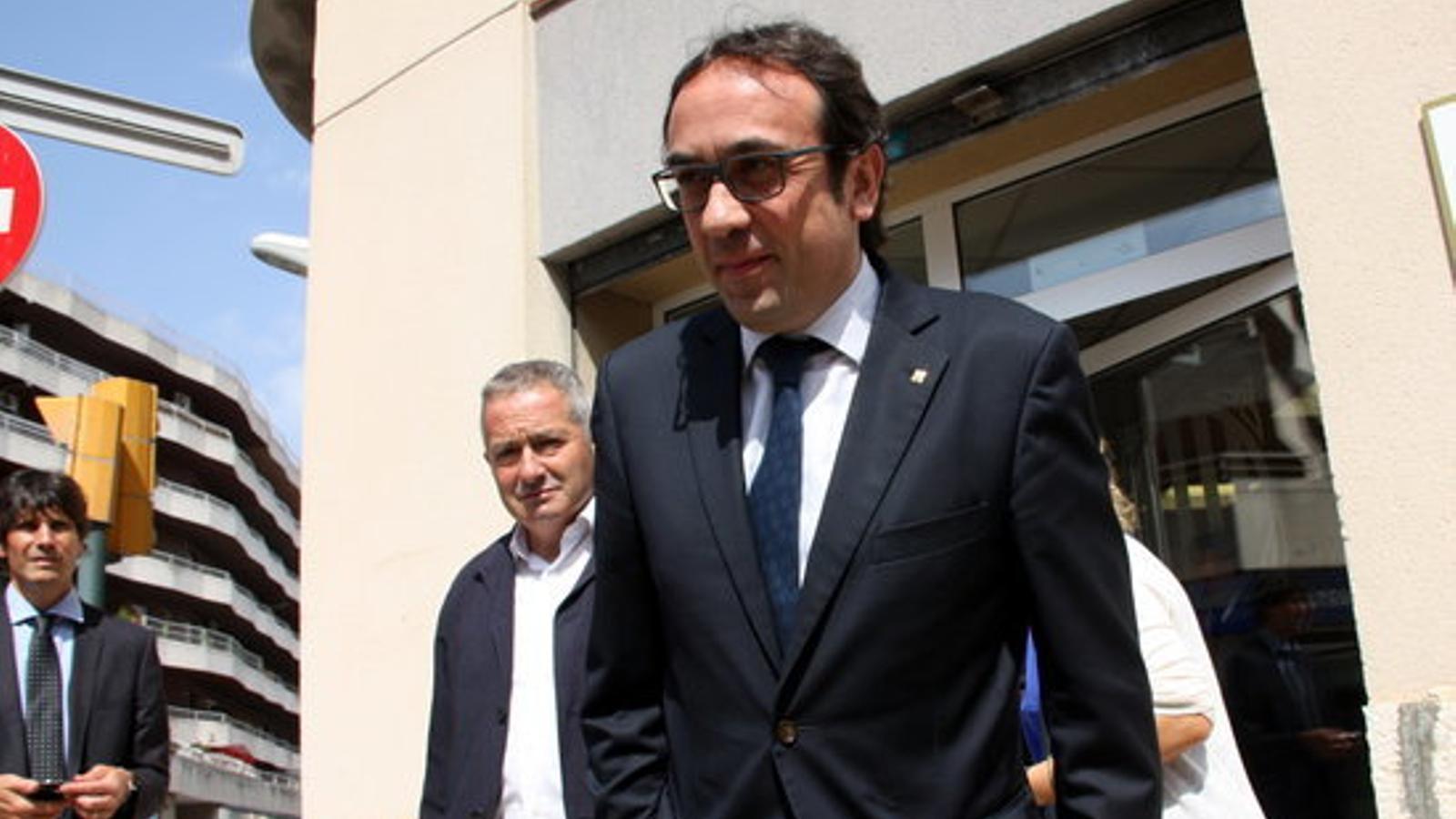 Josep Rull, a la sortida de la reunió a Tortosa