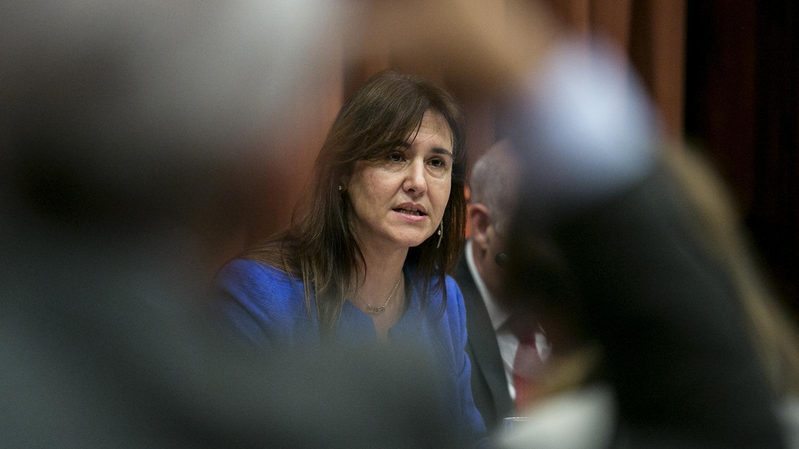 La consellera de cultura Laura Borras a la comissio de cultura del Parlament