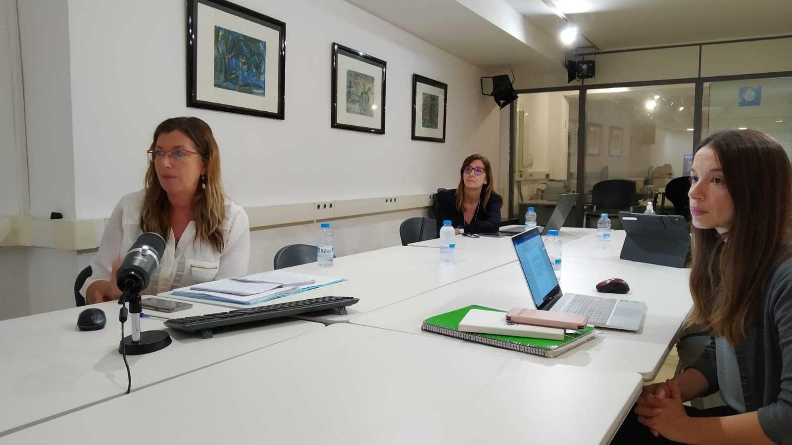 La consellera Patricia Gómez durant la reunió telemàtica amb el ministre de Sanitat.