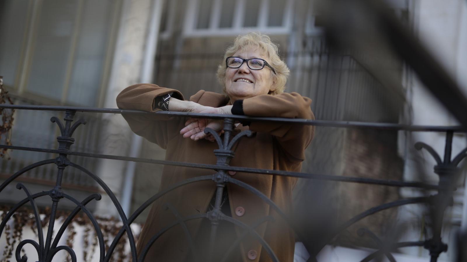 Isabel-Clara Simó, avui, dia en què s'ha sabut que Òmnium Cultural li atorga el Premi d'Honor de les Lletres Catalanes