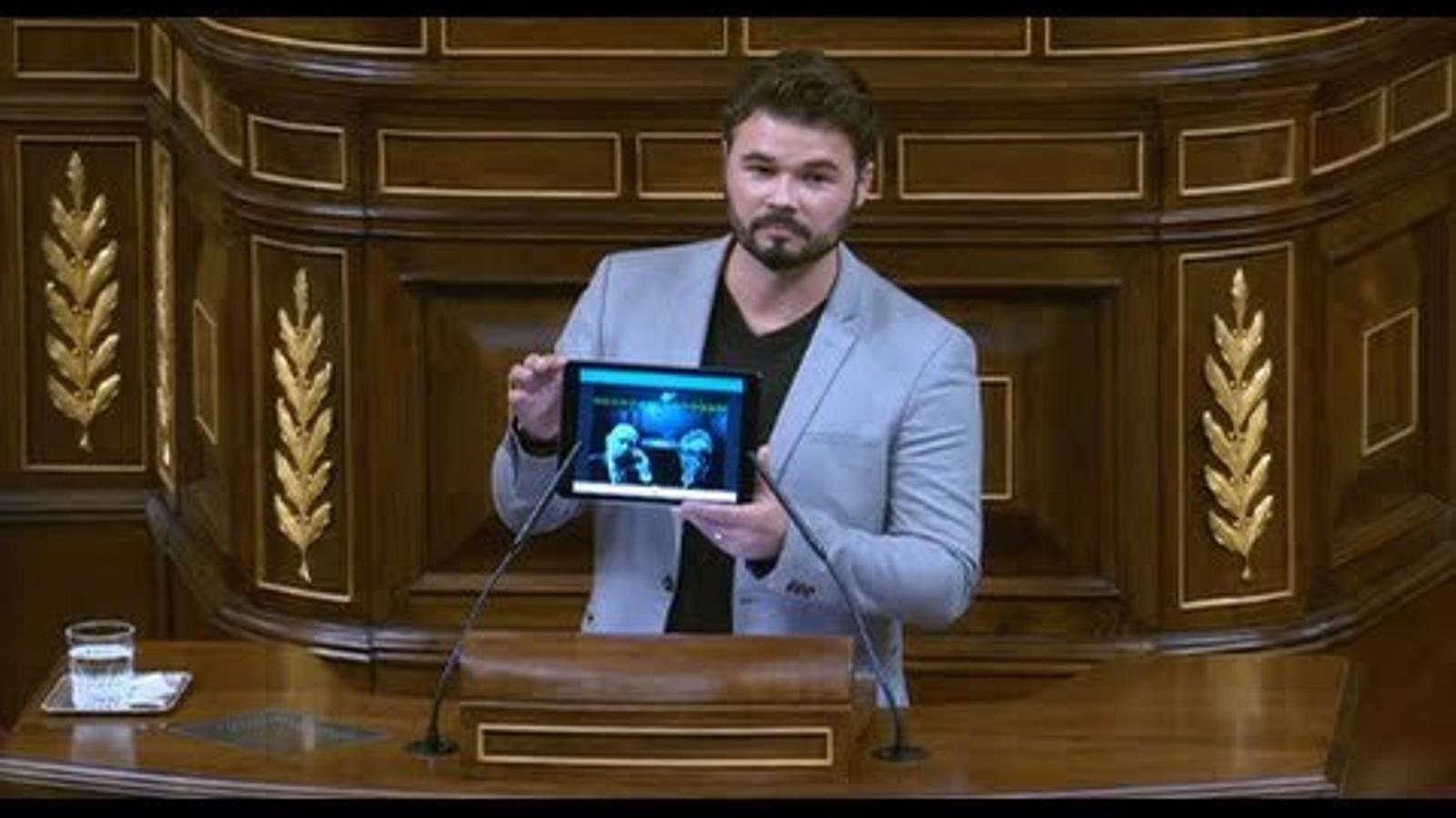 Rufián en el debat per crear una comissió d'investigació sobre Fernández Díaz