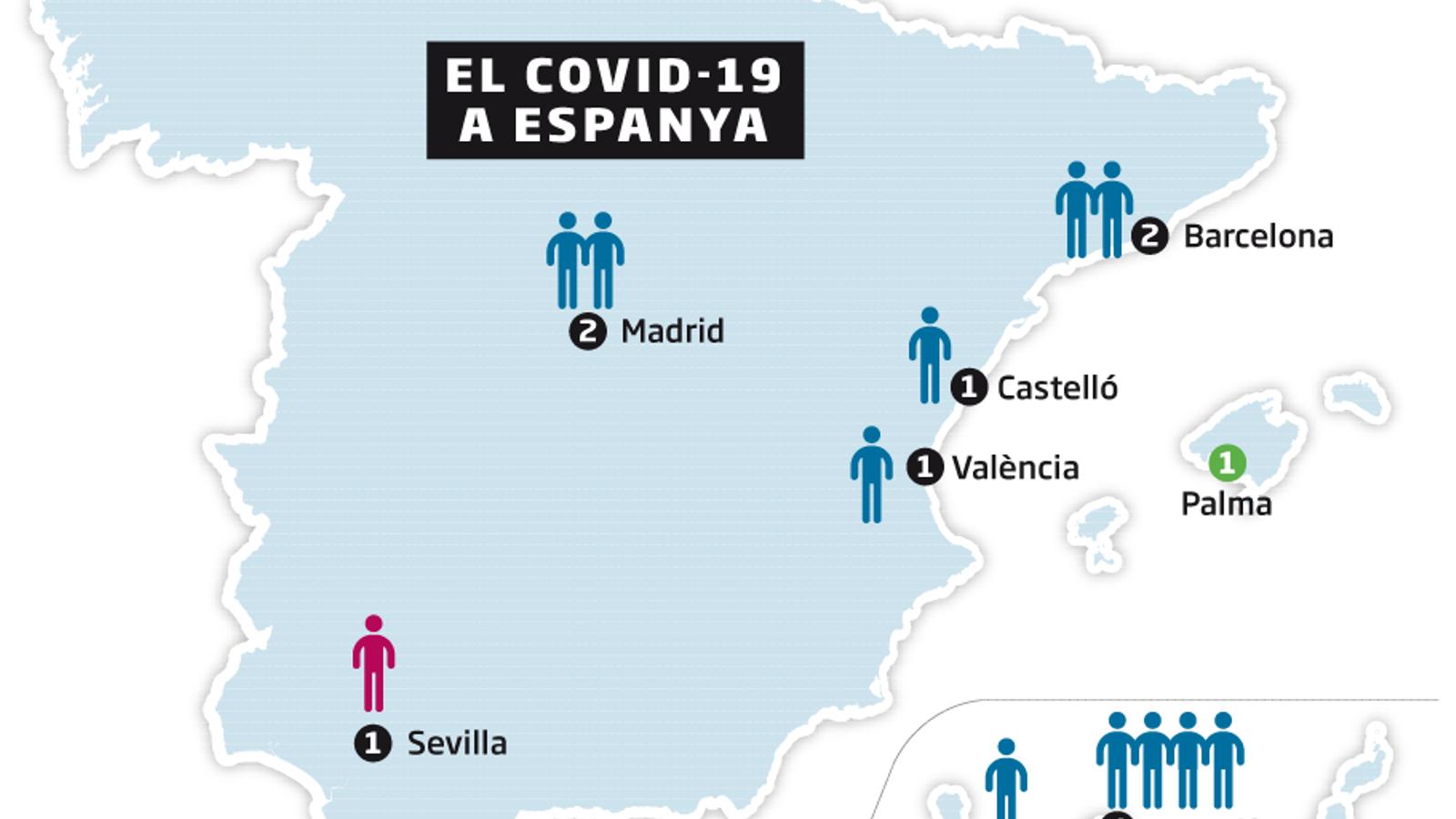 Andalusia confirma el primer contagiat de coronavirus que no havia sortit d'Espanya