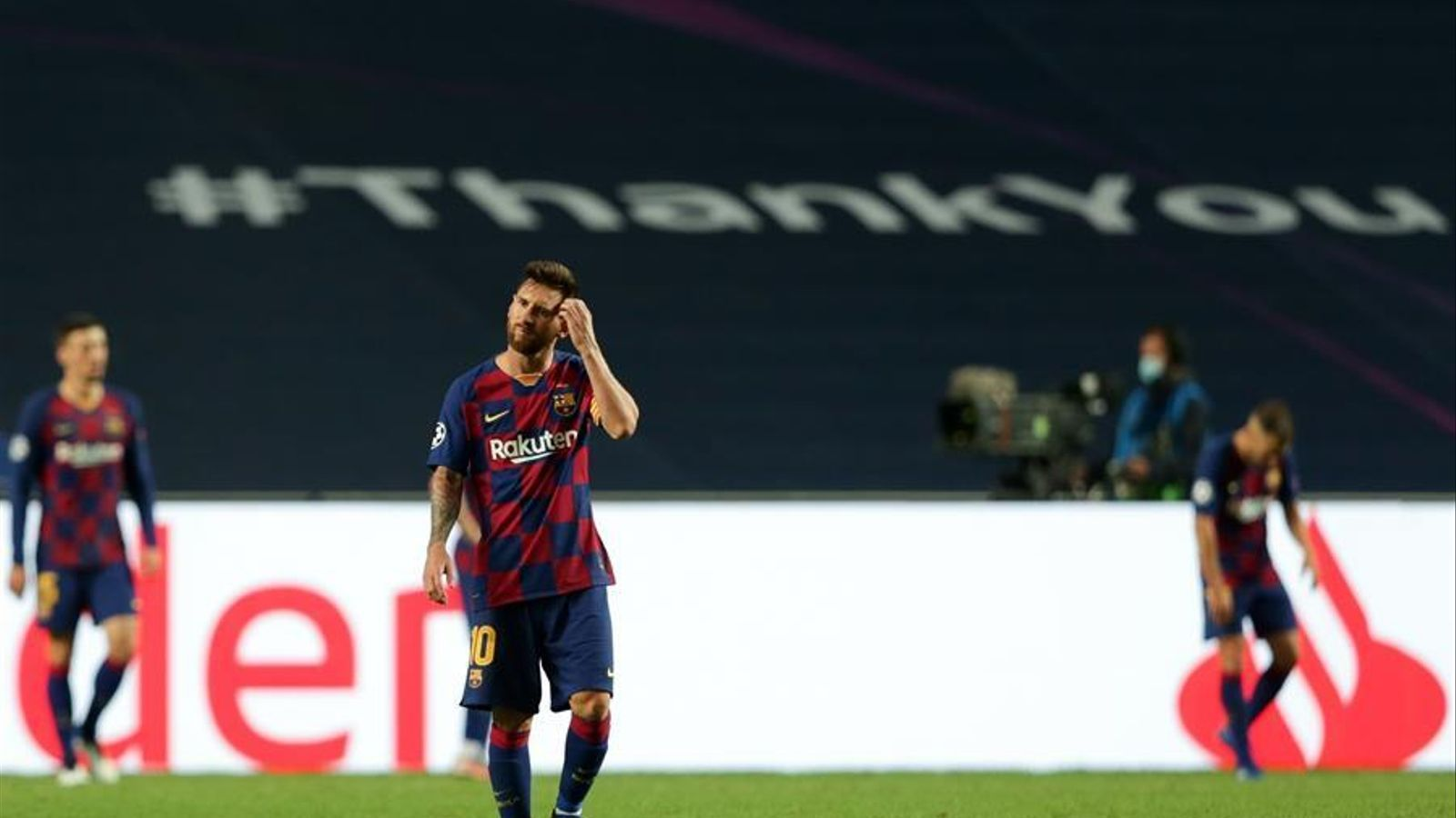 Leo Messi durant la derrota contra el Bayern