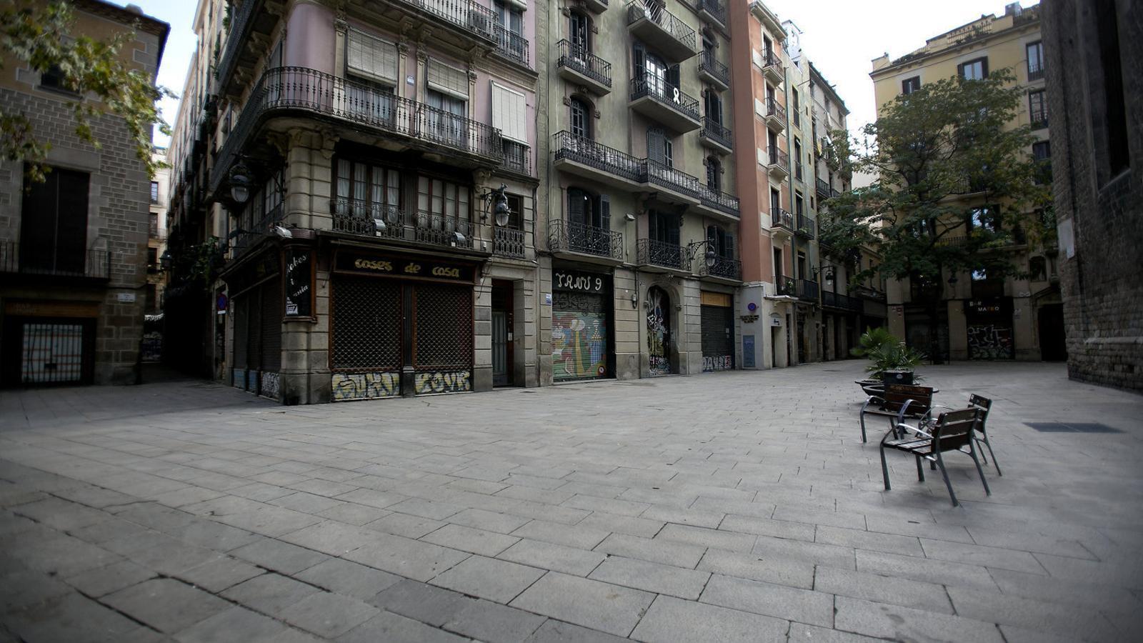 La plaça de Sant Josep Oriol, al centre de Barcelona, en una imatge del novembre.