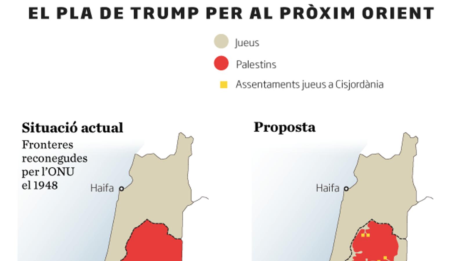 """Els palestins responen que el pla de Trump és """"la bufetada del segle"""""""