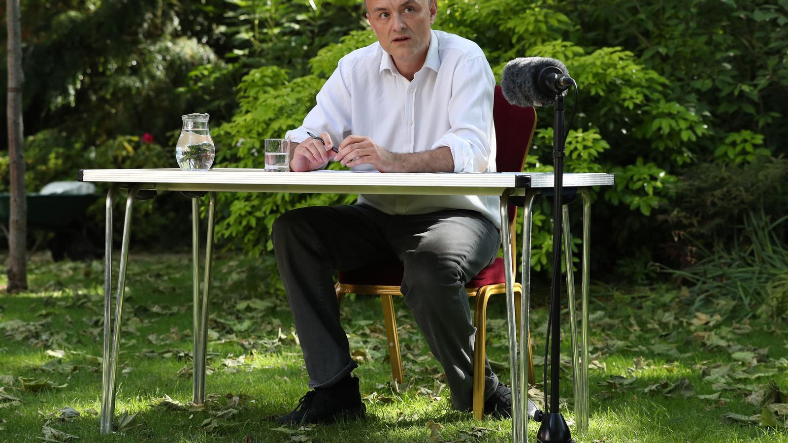 Dominic Cummings, al jardí de la Rosa del Downing Street, aquest dilluns a la tarda