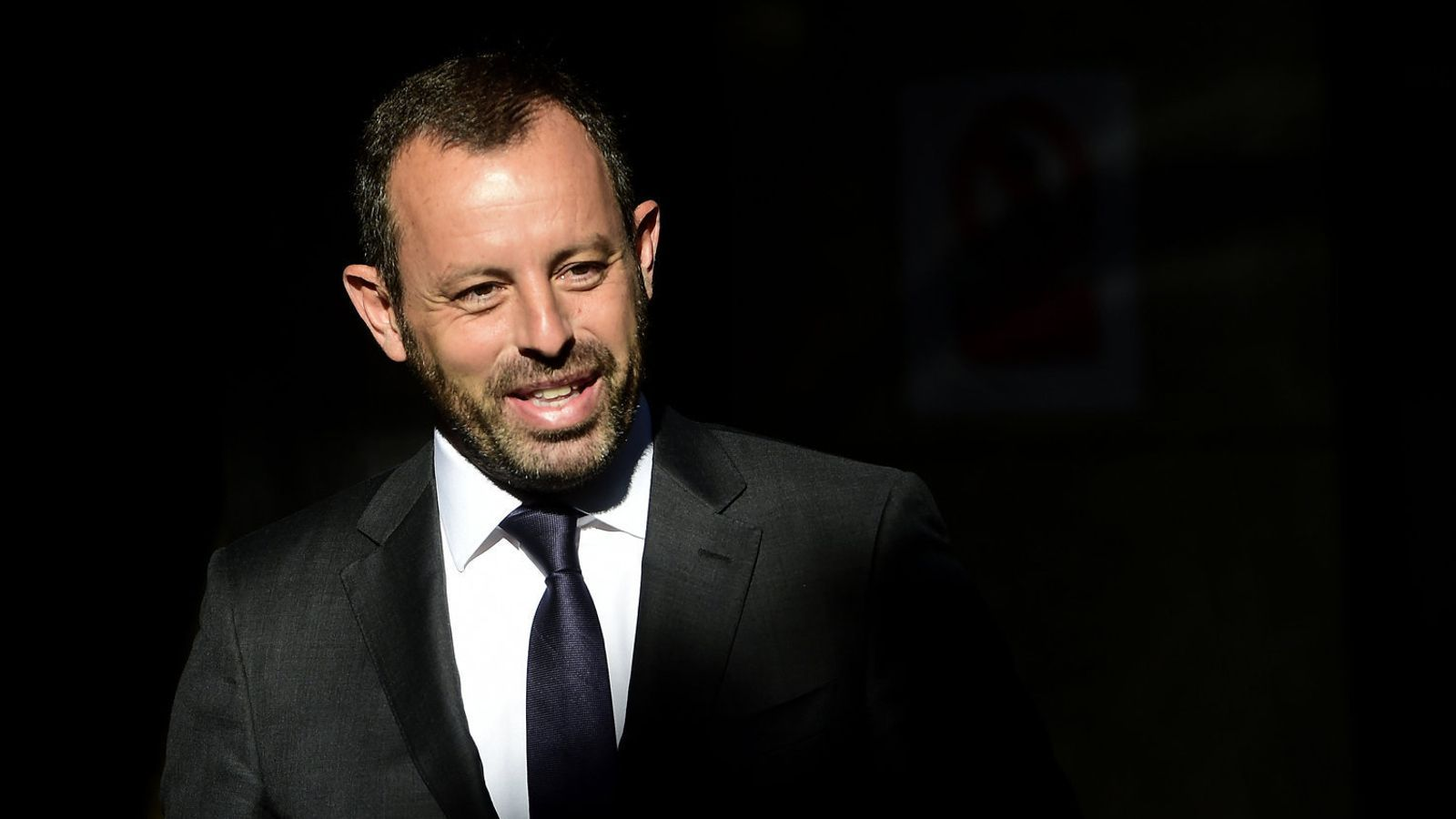 Sandro Rosell anant a declarar a Madrid l'any 2014.