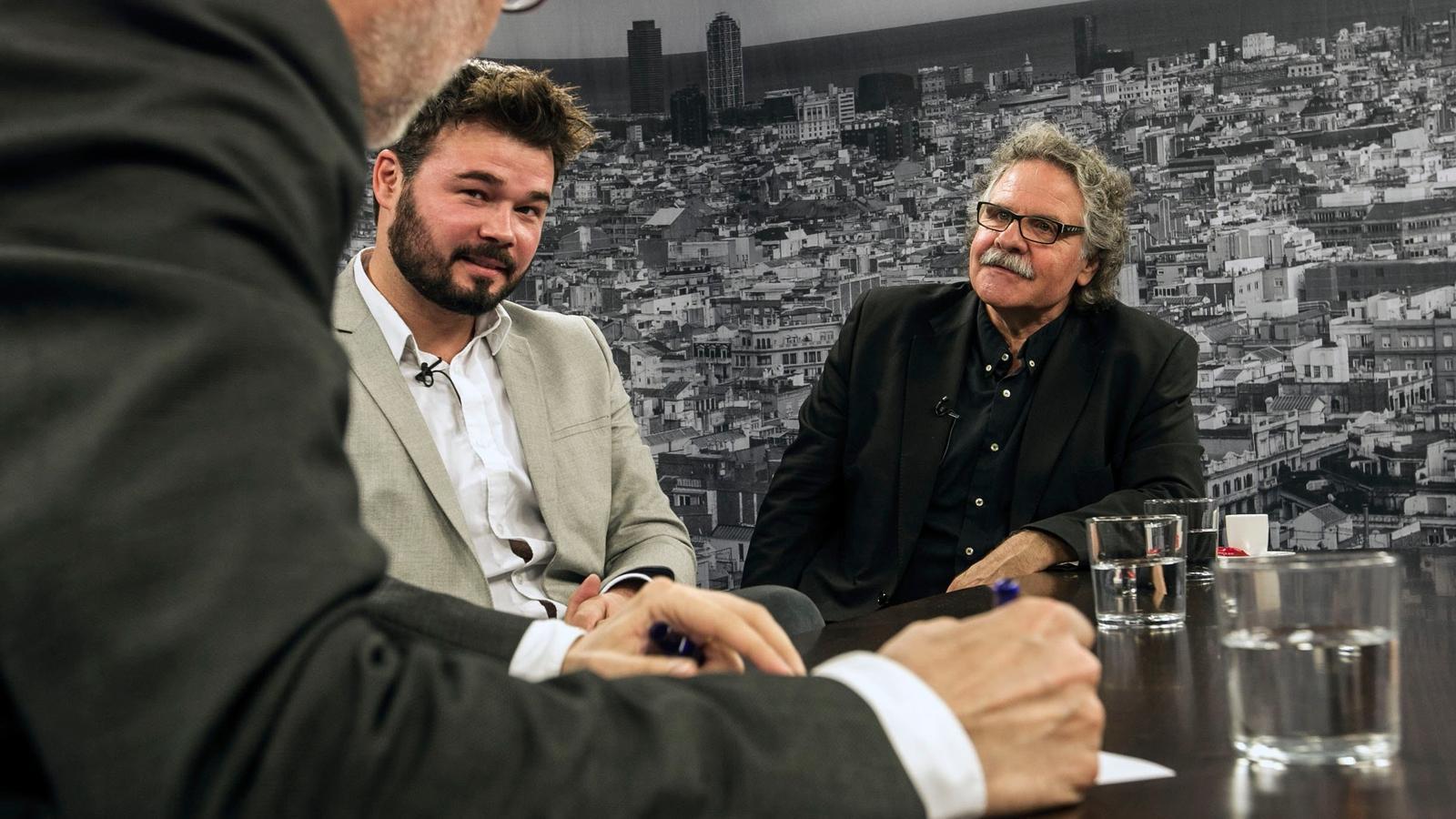 """Rufián i Tardà: """"Votar Podem és rendir-se"""""""